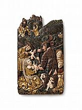 A presumably Central German relief showing the massacre of the innocents, circa 1520/1530