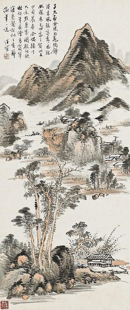 A hanging scroll by Wang Rong (1896-1972)