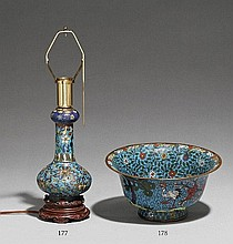 A Ming-style cloisonné enamel bowl. 19th century