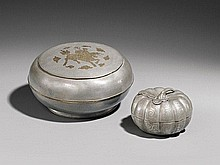 Two paktong pieces. Around 1900
