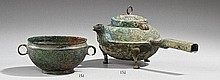 A bronze boiling kettle. Early Han dynasty