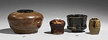A chawan and two chaire. 19th/20th century