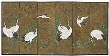 A six-panel screen. 19th century
