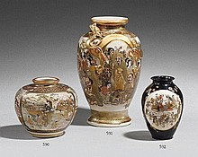 A Satsuma vase. Around 1900