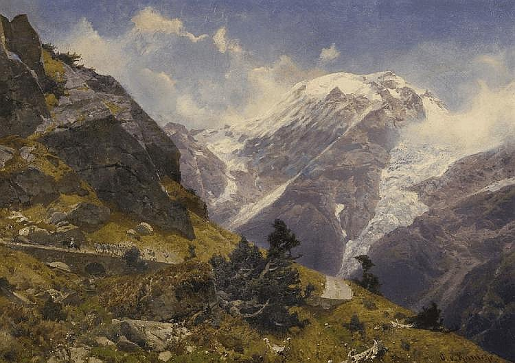 LANDSCAPE IN THE HIGH ALPS