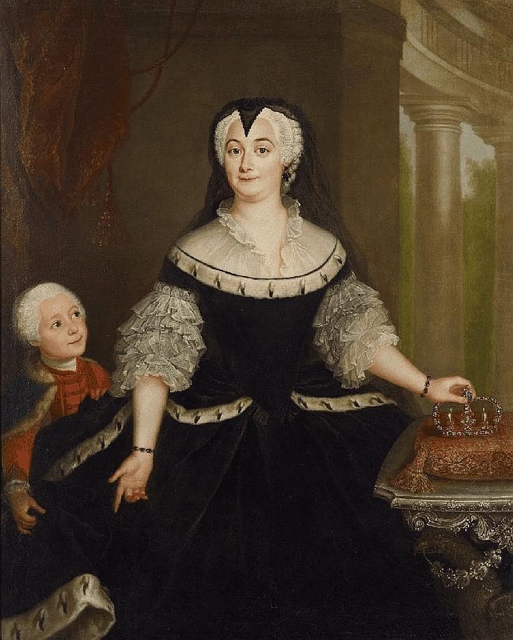PORTRAIT OF ANNA SOPHIE CHARLOTTE DUCHESS OF SACHSEN-EISENACH-JENA