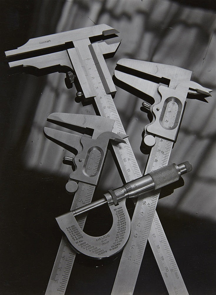 Adolf Lazi, Vernier caliper. Machinery detail, Early 1950s