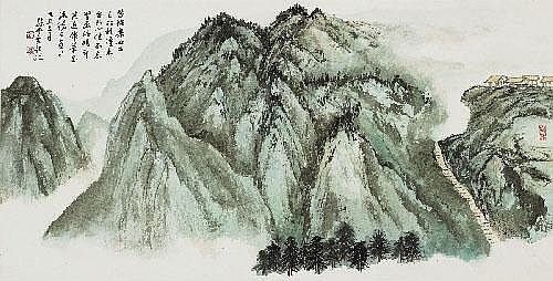 Sun Yunsheng (1912-?) Gebirge mit Steiltreppe zu