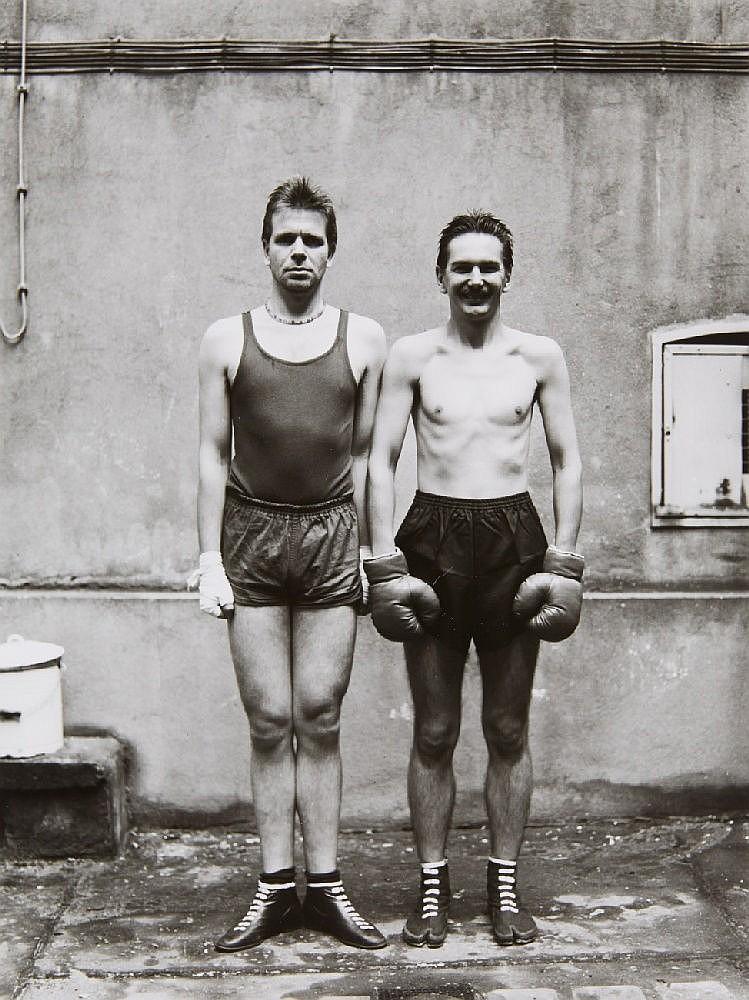 Ulrich Tillmann and Wolfgang Vollmer, Anonymous - Die Boxer, 1928. Klaus Peter Schnütger-Webs - o.T., 1932. Anonymous - Jungbauern auf dem Weg zum Tanz, 1913 (from the series: Meisterwerke der Fotokunst. Sammlung Tillmann und Vollmer), 1985/86