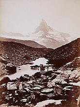 Vittorio Sella, Matterhorn und Grünsee von Findelen aus (Matterhorn and Grünsee as seen from Findelen), 1900