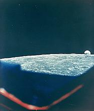 NASA, Earth rising above the lunar horizon, Apollo 8, 1968