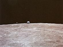 NASA, Earthrise from lunar module, Apollo 16, 1971