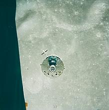 NASA, Command and service module viewed from the lunar module, Apollo 16, 1972
