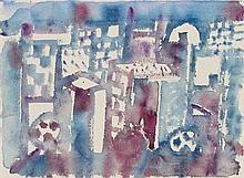 Eduard Bargheer, Stadt in Blau, 1973