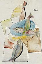 Jankel Adler, Stilleben mit Fischen, Circa 1927