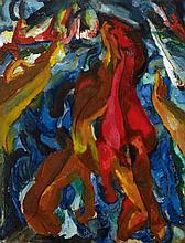 Carlo Mense, Pferdeschwemme, 1913