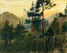 Max Slevogt, Sonnenuntergang, 1902