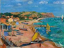 Hans Purrmann, Küste bei Fano, 1940
