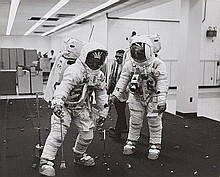 NASA, Apollo 11 crew members simulating their activities on the lunar surface,  1969