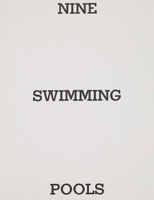 Ed Ruscha Nine Swimming Pools And A Broken Glass 1968
