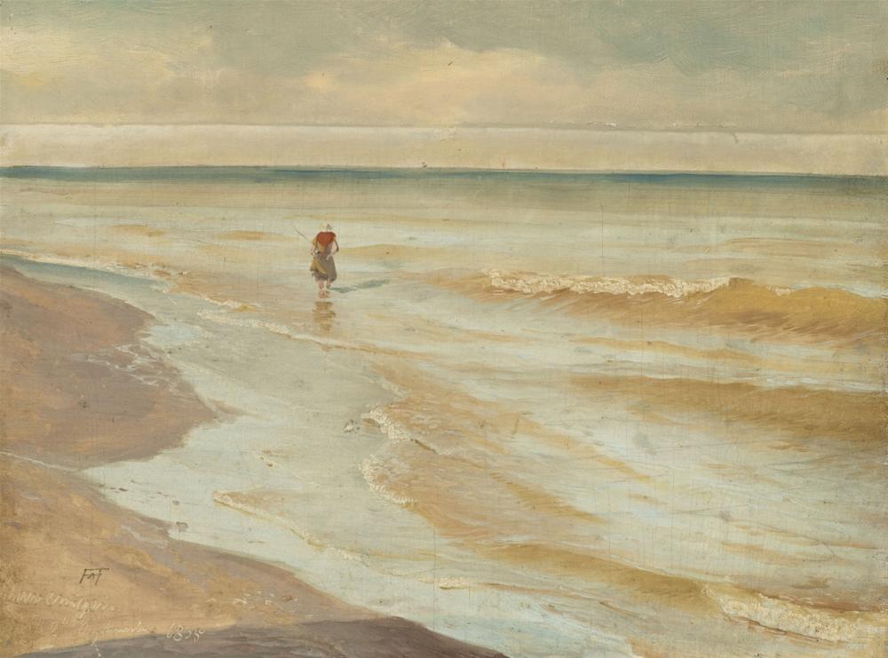 Andreas Achenbach, Beach at Scheveningen