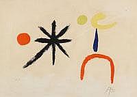 JOAN MIRÓ Montroig 1893 - 1983 Calamajor/Mallorca