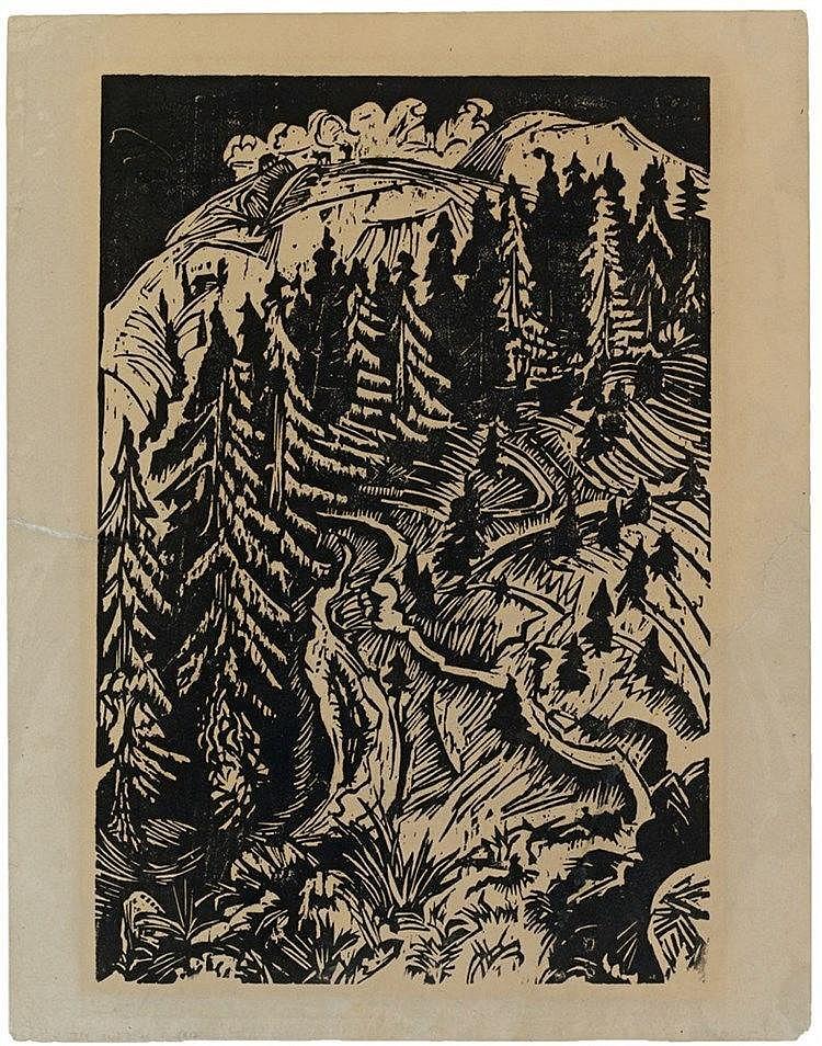 Ernst Ludwig Kirchner, Drei Wege, 1917