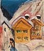 Ernst Ludwig Kirchner, Häuser im Schnee, 1917