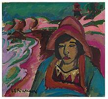 Ernst Ludwig Kirchner, Mädchen in Südwester, 1912