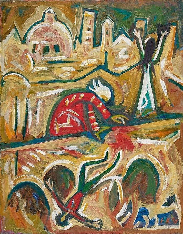Friedrich Karl Gotsch, Florentinische Tragödie, 1966