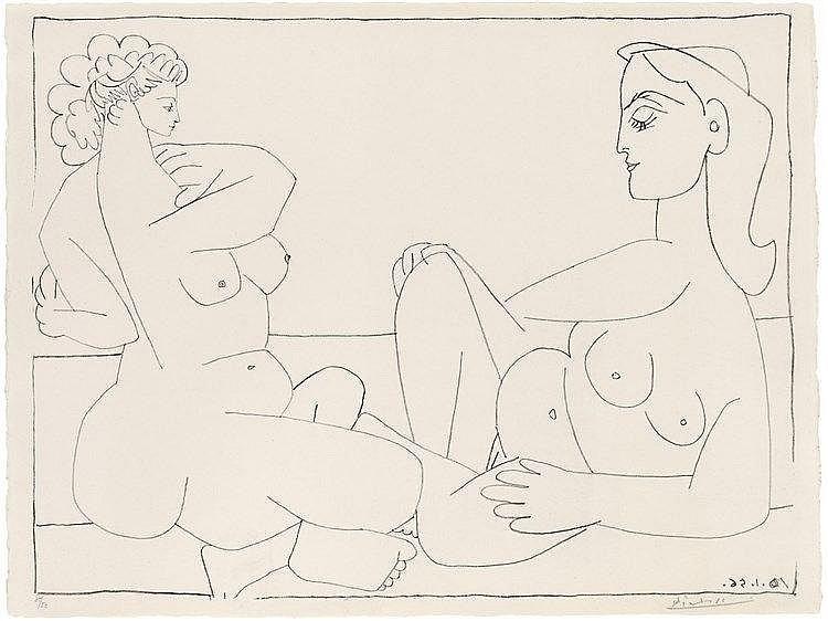 Pablo Picasso, Deux Femmes sur la Plage, 1956