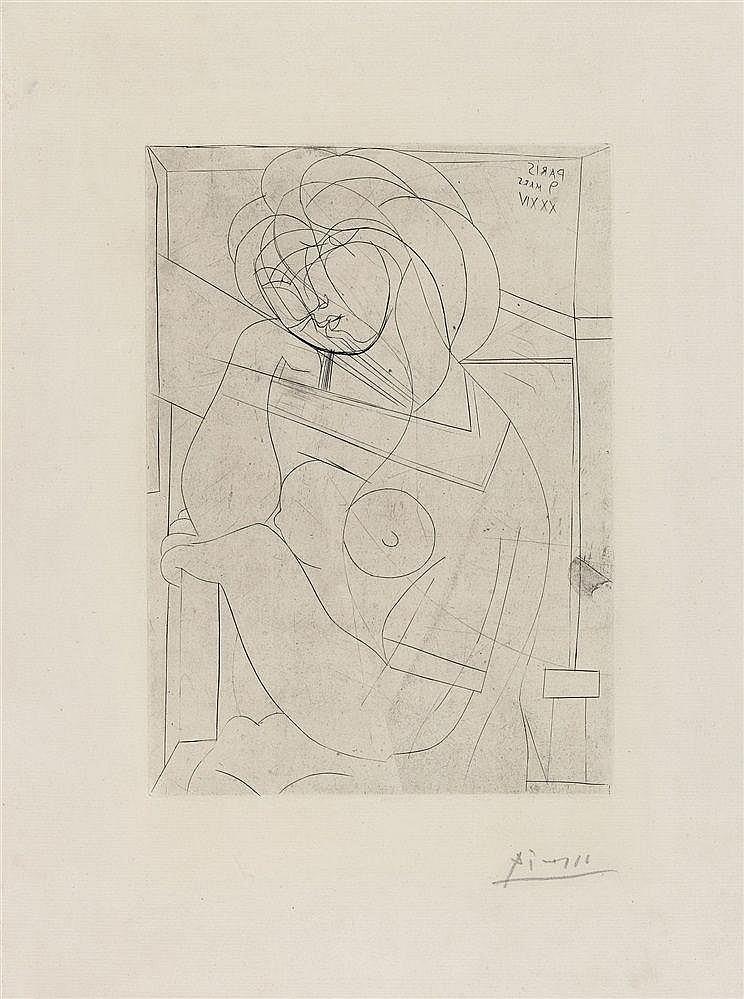 Pablo Picasso, Femme nu assise, la Tête appuyée la Main, 1934