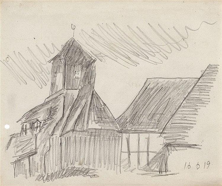 Lyonel Feininger, Dorfkirche (Possendorf), 1919