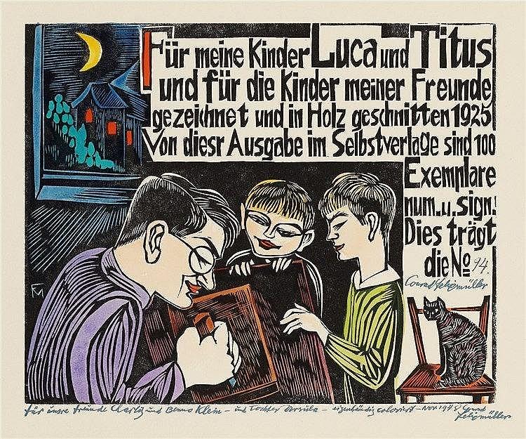 Conrad Felixmüller, ABC - Ein geschütteltes, geknütteltes Alphabet in Bildern und Versen, 1925