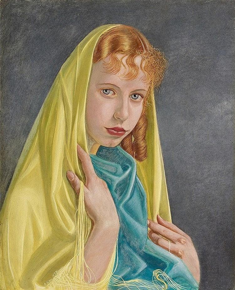 Barthel Gilles, Mädchen mit Schleier, 1937