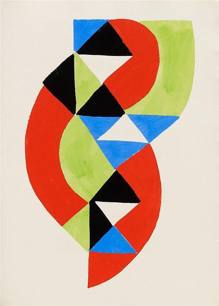 Sonia Delaunay-Terk, Jacques Damase, Rythmes - Couleurs, 1966