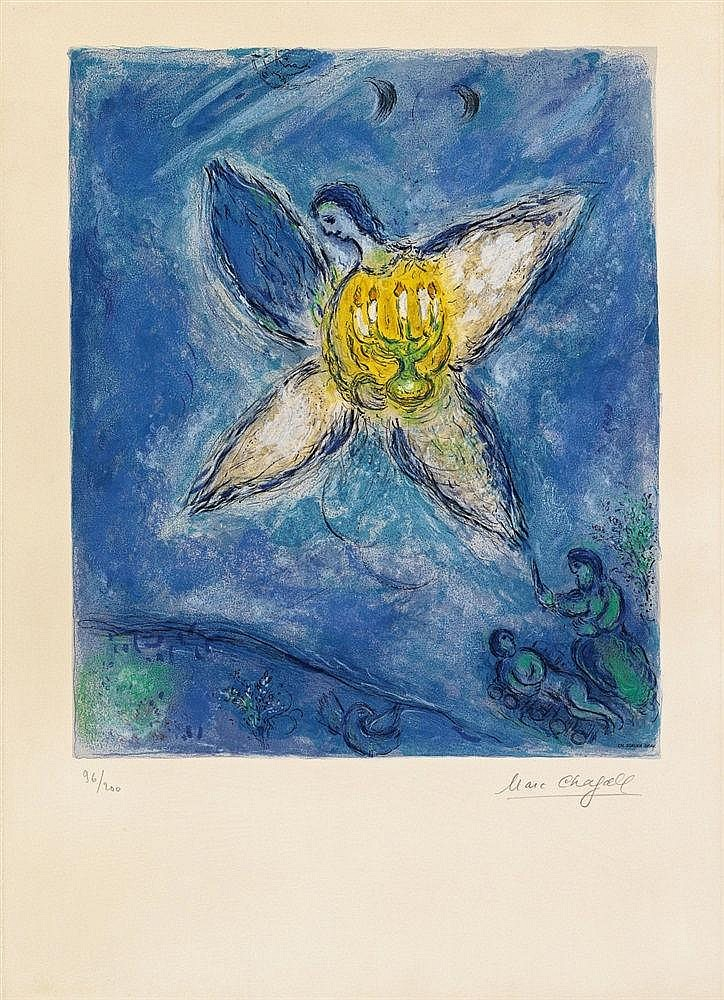 After Marc Chagall, L'ange au Chandelier, 1973