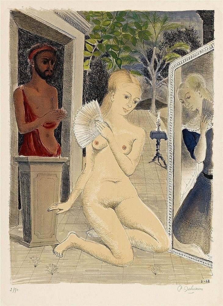 Paul Delvaux, The Fan, 1968