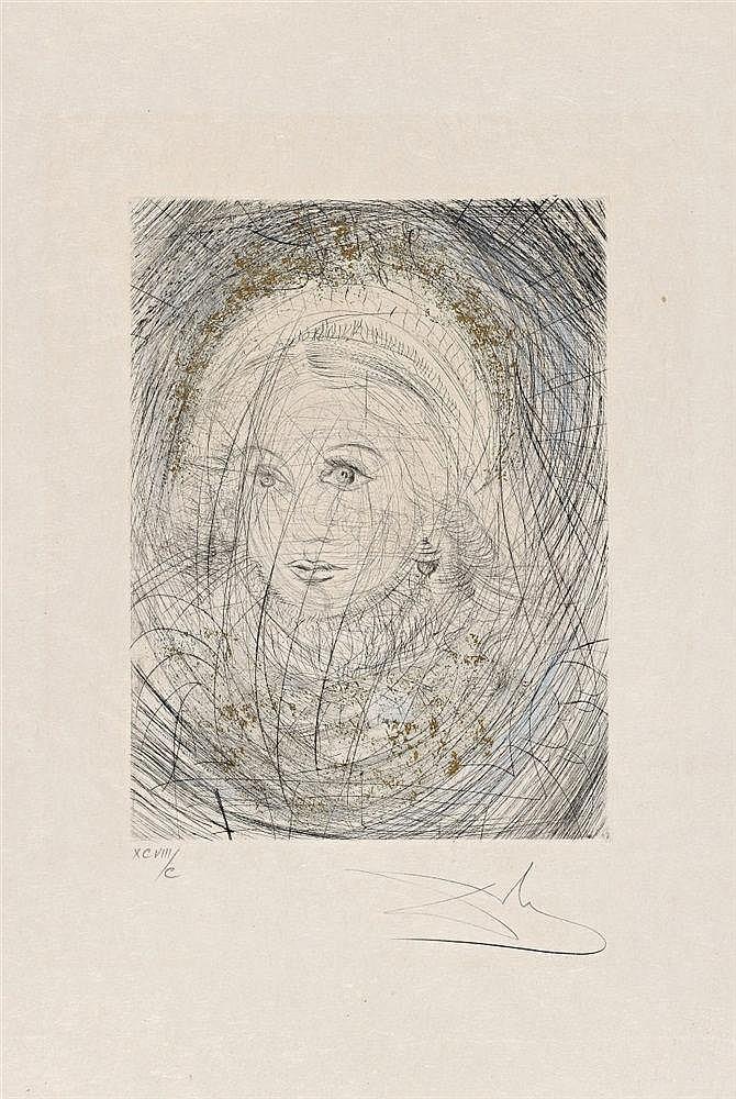 Salvador Dali Y Domenech, Portrait de Marguerite (Bildnis Margarete), 1968/1969