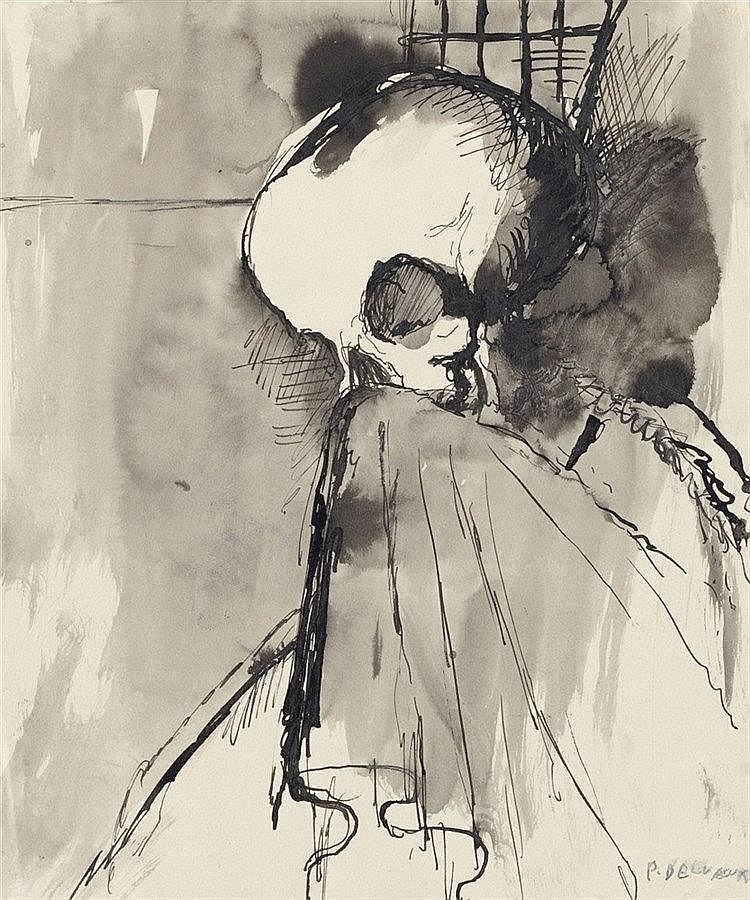 Paul Delvaux, Studie zu