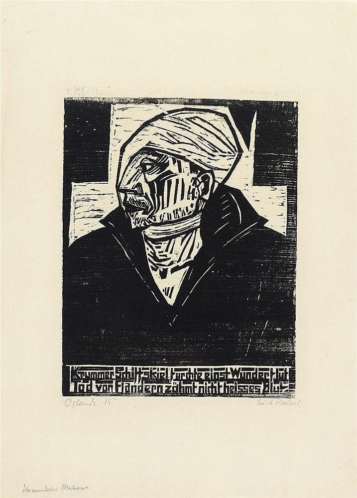 Erich Heckel, Verwundeter Matrose, 1915