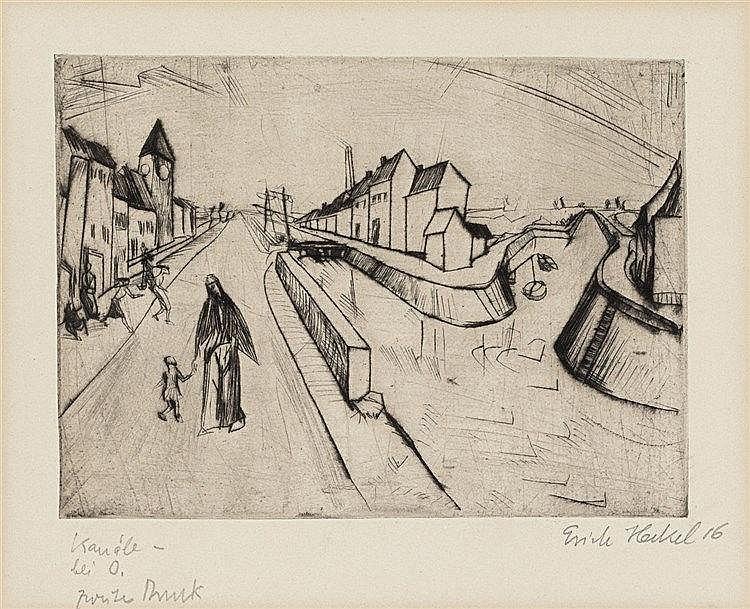 Erich Heckel, Kanal bei Ostende, 1916