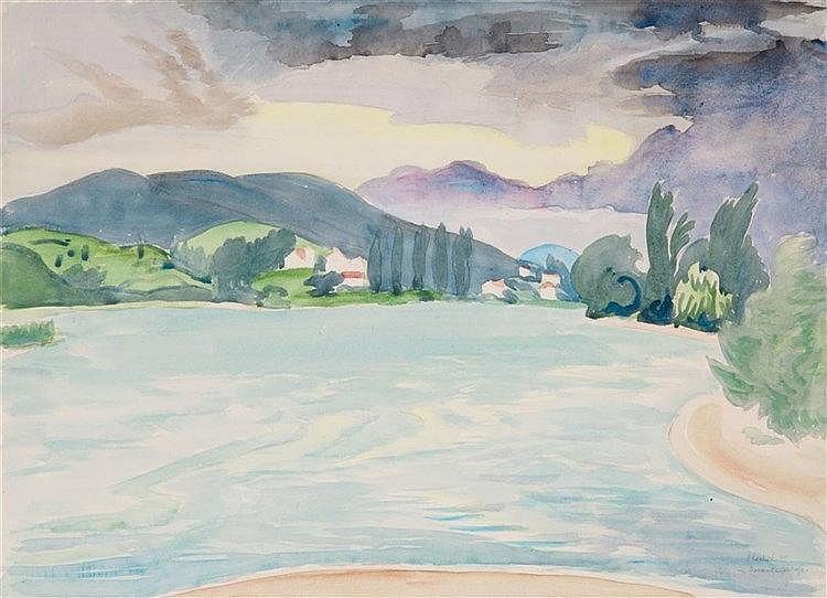 Erich Heckel, Donaulandschaft, 1940
