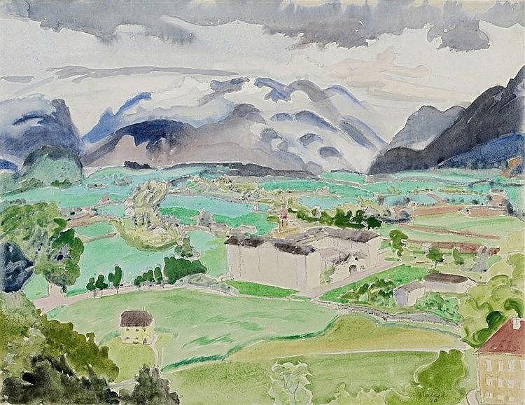 Erich Heckel, Blick in die Ebene, 1940