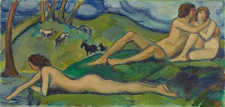 Ludwig von Hofmann, Herbstidyll, Circa 1918 - 1924/1925