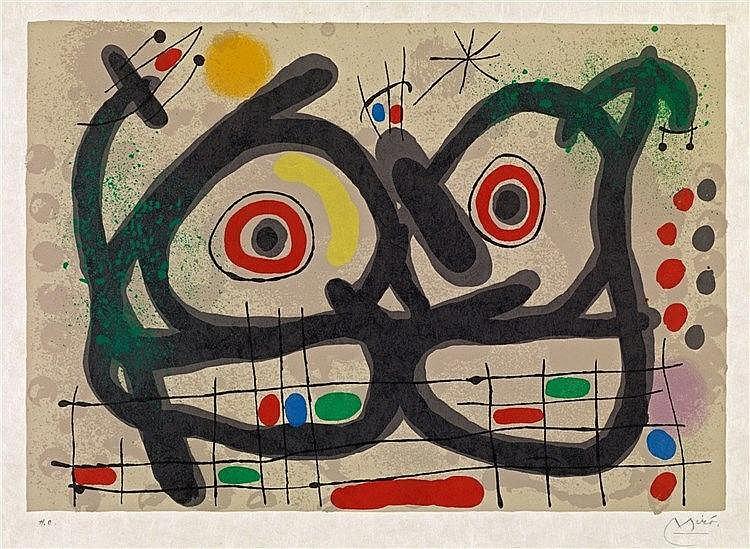 Joan Miró, Aus: Le lézard aux plumes d'or, 1967