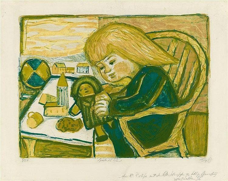 Otto Dix, Spielendes Kind, 1955