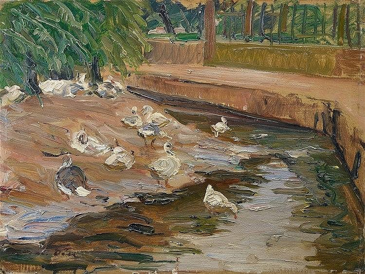 Otto Dill, Enten am Weiher,