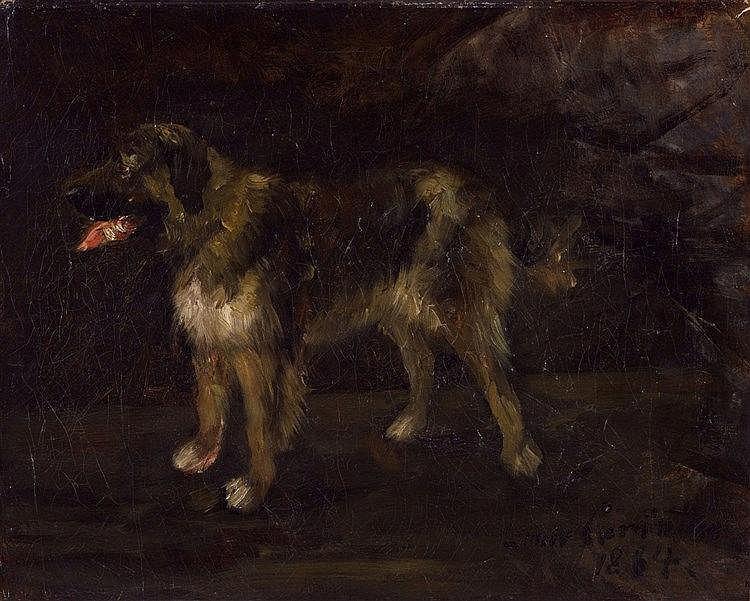 Lovis Corinth, Hundestudie, 1884