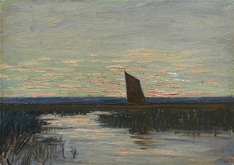 Hans am Ende, Abendstimmung, Circa 1900